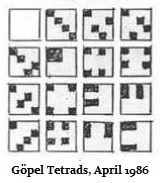 Göpel tetrads in an inscape, April 1986